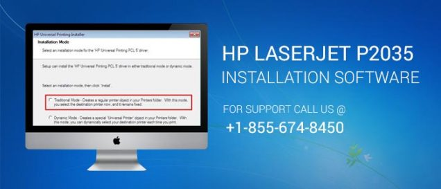 HP LaserJet P2035 Printer driver installation