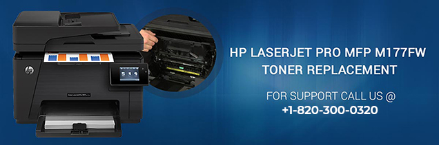 HP LaserJet Pro MFP M177FW toner replacement